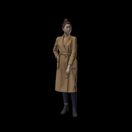 现代人模型 女人 19