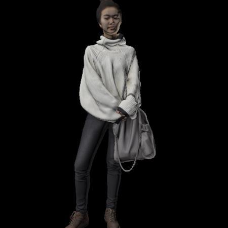 现代人模型 女人 20
