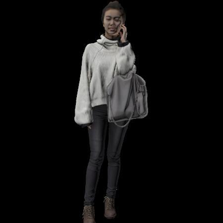 现代人模型 女人 21