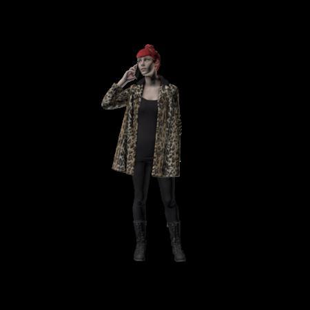 现代人模型 女人 22