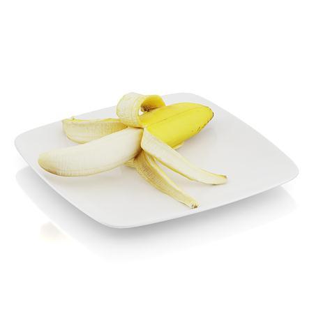 精美食物  剥皮香蕉