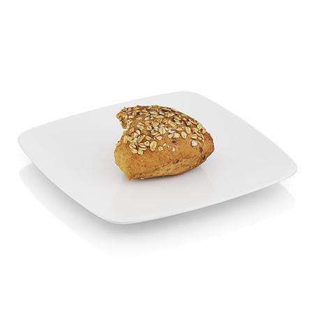 精美食物  半块瓜籽面包