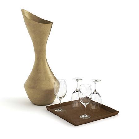 精美家居装饰用品   花瓶和酒杯