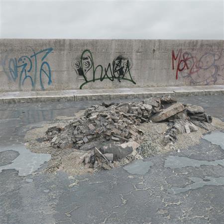 废弃石块 石板
