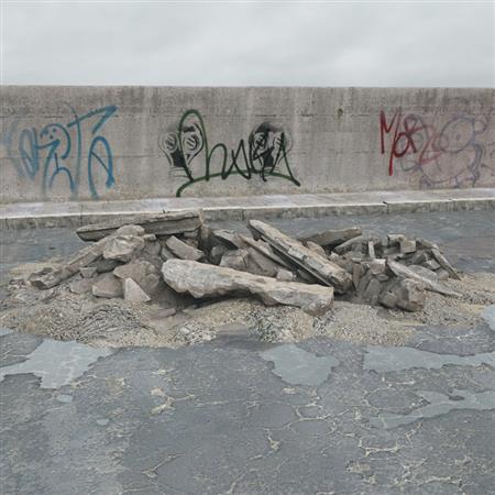 废弃建筑材料 巨石块