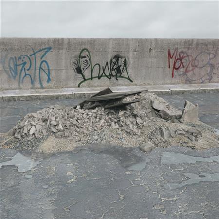 废弃建筑材料 碎石 石块