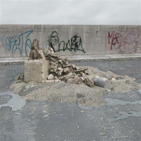 建筑废料 砖石块