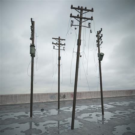 废弃电线杆