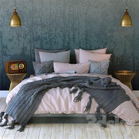 卧室床铺模型