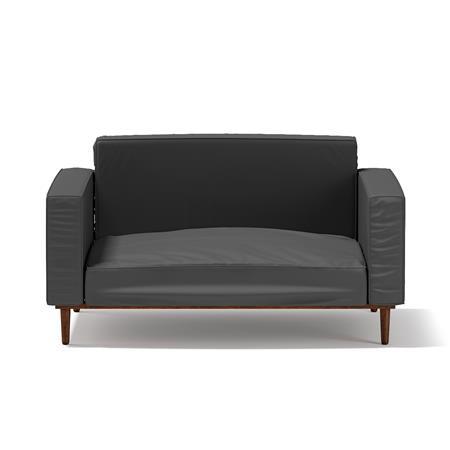 黑色单人沙发