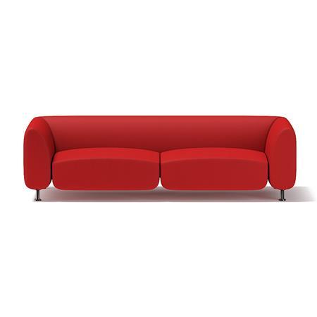 红色双人沙发
