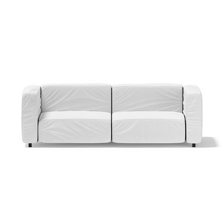 白色现代双人沙发