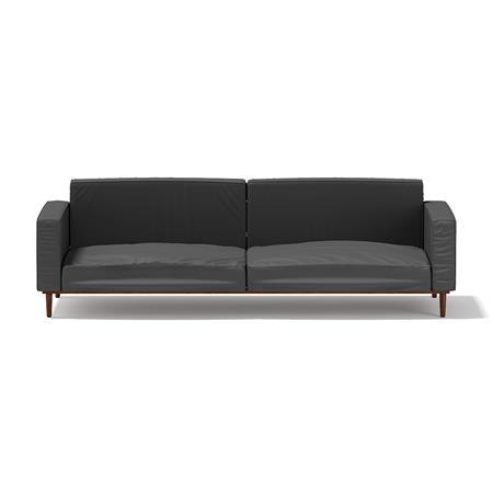 黑色双人沙发