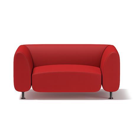 红色单人沙发