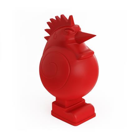 创意家具 鸡型雕塑灯红 Creative furniture