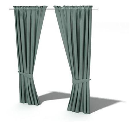 军绿色窗帘