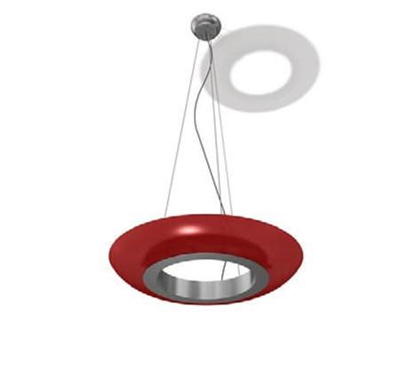红色环形吊灯
