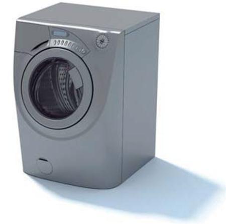 灰色滚筒洗衣机