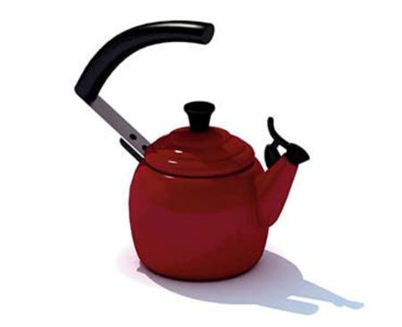 红色烧水壶