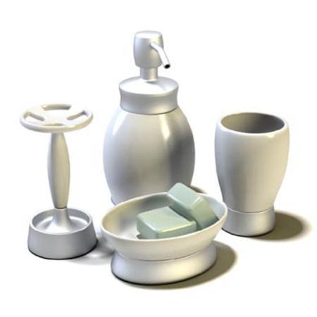 洗浴套件 肥皂 牙刷架 杯子 洗手液