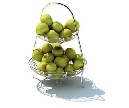 水果架与青苹果