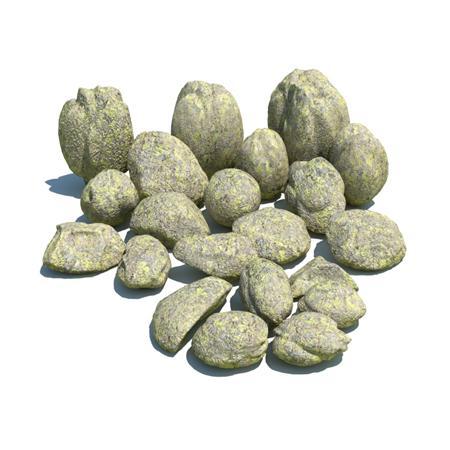 自然石头 土黄色斑纹的石头