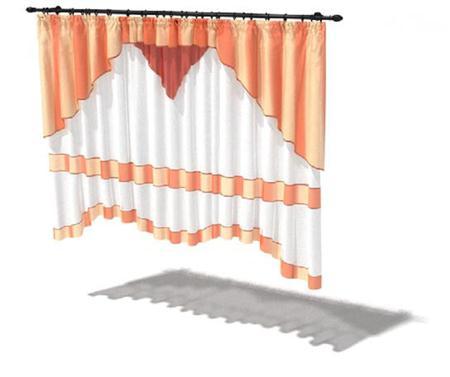 红白色欧式宫廷幔窗帘