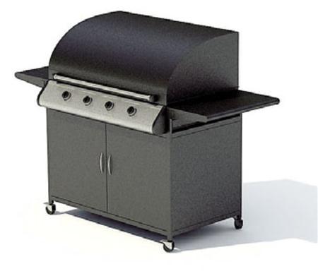制作精美的金属厨车