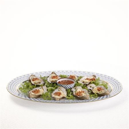 海鲜盘 扇贝 seafood scallop