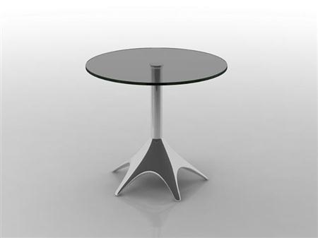 玻璃小圆桌